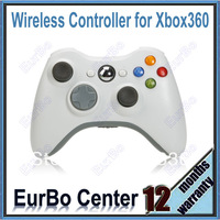 White Wireless Controller Joystick Gamepad for Xbox 360 (EX001)