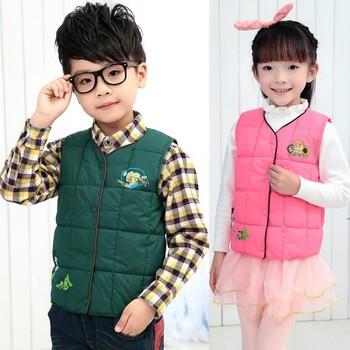 Retail quality 2014 winter brand child boy/girls cardigan vest kids clothes fashion children's coat free shipping