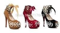 Free Shipping 2013 Fashion Sexy Peep Toe Platform Stiletto High Heels Women's Pumps Dance Party Shoes