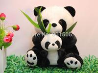 "Cute 8.3""(21 cm)  Panda With Baby Plush Stuffed Animal Toy Free Shipping"