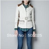 Z fashion winter women's patchwork slim waist wadded jacket cotton-padded jacket outerwear coat