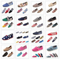 TOP Retail Fashion Flat Casual Canvas Shoes Mix color Unisex Classic Canvas Espadrilles Shoes Plain Casual Sneakers TO502(China (Mainland))