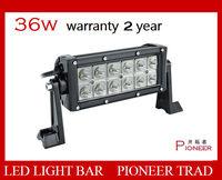Free shipping Selling 36W  light bar  12V 1.35KG 7.5 inch