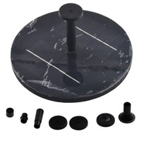 Black Floating Solar Panel Power Water Pump Fountain Kit for Garden Pond 30CM 150L/H Long Life Tme Fast Freeshipping 1pcs