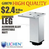 Quadrangle adjustable Aluminium alloy Cabinet legs Metal cabinet Sofa leg furniture parts(4 pieces/lot)180mm leg LICHEN