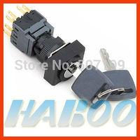 HBA16 dia.16mm waterproof 2 positions key lock push button switch 2NO+2NC