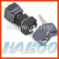 HBA16 dia.16mm waterproof 3 positions key lock push button switch 2NO+2NC
