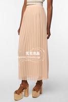 Big Promotion!Hot Sell Women Summer Silk Chiffon Elasticized Bandage Waist Floor Length Goregous Ruffled Skirts +Free Shipping