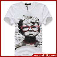 2013 New Mens Casual T-Shirts, man Short sleeve tshirts, round neck Fashion Print T shirts, fashion O-neck t shirt Asia S-XXL