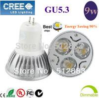 10pcs/lot Sale High Power GU5.3 ( MR16)  3X3W 9W LED Light LED bulb LED lamp 85-265V (110V 220V) home garden