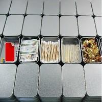 10PCS/LOT silver rectangle tin box, plain metal box without printing 94x59x21mm