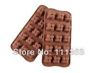 Freeshipping Wholesale 100 PCS/lots Chinese knot shape  Muffin Sweet Candy Jelly fondant Cake Chocolate Mold Silicone  tool
