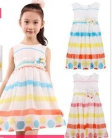 New girl skirt, rainbow stripes, beach , chiffon princess skirt