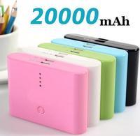 Promotion!! 20000mAh Universal Backup USB Battery Power Bank External Battery Pack Charger, 10pcs/lot DHL Free Shipping