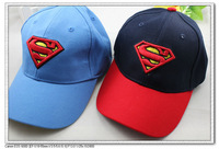 5 pcs per lot 2 colors cotton unsex  kids baby children Superman caps, baseball & sun hats, C2008