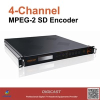 4 Channels MPEG-2 Encoder(DMB-9311) for DTV, provides 4*CVBS in, ASI out and TSoIP out for IPTV, Free shipping DTV headend