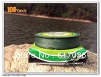 High qualit   Wholesale-- Free shipping  100yard High qualit  PE   FISHING LINE green eight 8lb - 80 lb