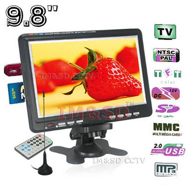10 inch Car Wide LCD Monitor/Analog TV,SD/MMC Card,USB Flash Disk,Loudspeaker,800x600 Resolution,jpg, AVI, MP3, WMA Play Format(China (Mainland))