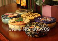 10 pcs Beautiful Circular Jewelry Tin Box, Cute Tea Amazing Tea Case, Metal Storage Metal Box Gift Free Shipping