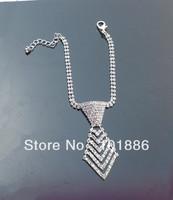 new list,crystal dog collars,rhinestine tie pet necklace dog jewelry,pet collar