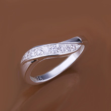 Free shipping 925 sterling silver jewelry ring fine fashion inlay zircon women finger rings top quality SMTR159