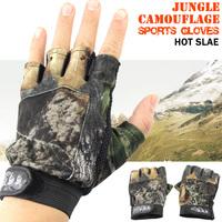 Hot sale Gloves Polyester Elastic Breathe Non-Slip Antifriction Half-finger Fishing Glove for Fishing Equipment ST26  wholesale