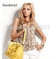 Free Shipping New Spring and Summer women hot selling serpentine pattern sleeveless blouse serpentine chiffon shirt D-417