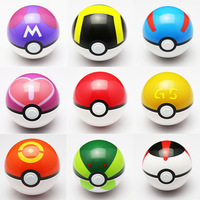 freeshipping 18pcs/lot ABS Anime doll Pokemon Monster spirit demon Elf PokeBall kids toys balls 9 colors gift wholesales