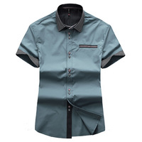 2013 New Arrival Men Short Sleeve Shirt Fashion Men Style Turn-Down Collor Dress Shirt plus size M-XXXL MCS016
