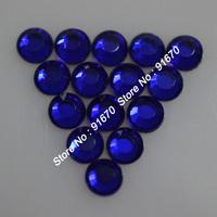 SS10 Iron on korean color Cobalt rhinestone 500gross/bag, lead free AAAA hotfix flat back  stone for clothing dress bags