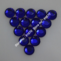 SS10 Iron on korean color Cobalt rhinestone 500gross/bag, lead free AAAA hotfix flat back  stone for clothing dress bags