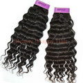 Black Hair Weave Brazilian Hair No Chemical Processed best hair extensions 10''-30'' Deep Wave #1B 100g/pc Free shipping 1pc/lot
