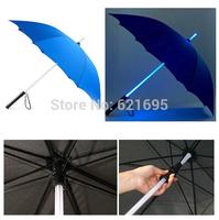 Hot selling Creative Luminous Umbrella LED Colorful Light Umbrella Glow Umbrellas Birthday Gift Free shipping