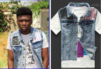 New fashion denim vest men jeans waistcoat colete masculino coletes masculino summer dress 2015 tanks M L XL,A816