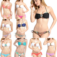 2013 NEWEST Sexy Bohemia Diamond Bandeau Bikini Swimwear Women Beach Swimsuit  Free Shipping 4 Colors S/M/L #PQ050
