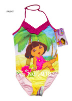 Free Shipping Kids Swimwear Swimsuit Bikini Bather Tankini 6-10Years Surfing Costume Girls