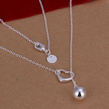 factory price top quality 925 sterling silver jewelry necklace fashion cute necklace pendant Free shipping SMTN164