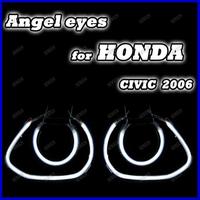 Free shipping Super Bright Colorful CCFL Angel Eyes for Honda Civic 2006 Halo Ring Car Angel Eyes kit