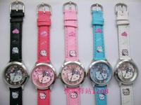 Wholesale 20pcs/lot  Fashion Hello Kitty  watch Ladies Women's Girls Quartz Wrist Watches, Xmas Gifts, Free Shipping