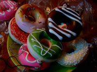 FREE SHIPPING Mobile Phone Strap Donut Squishy Charm Cute Bread Pendant Fashion Cute Novel Wedding Gift 200pc/lot say hi 1223