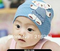 1pcs/lot free shipping baby hat baby cap infant cap Cotton Beanie Infant Hat Skull Cap Toddler Boys & Girls Hats