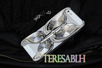 Butterfly case for iphone 4S hard cases,2012 hot selling products covers case for new generation apple  i phone 4S Wholesale