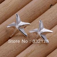 JE033  Lowest price wholesale 925 solid Silver earring 2013  charm Jewelry earring  women's  fashion jewelry, Seastar Earrings