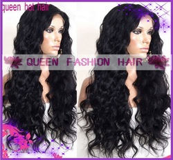"Fashion Wavy hair !!Brazilian remy hair full lace wig&gluless full lace wig 18""-24inch in stock !!!(China (Mainland))"