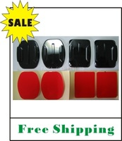 On Sale FREE SHIPPING Curved & Flat adhesive mounts for Gopro HD Hero 2/3 camera