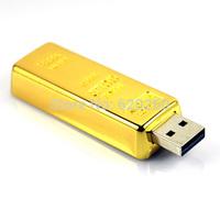 Free shipping retail genuine capacity 2GB 4GB 8GB 16GB 32GB gold bar usb flash drive, gold bar business usb Gold USB Flash Drive