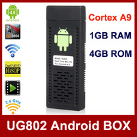 UG802 Android 4.1 TV Box Dual Core Cortex A9 1.6GHz Mini PC 1GB RAM 4GB NAND Flash Wi-Fi HDMI Google TV Dongle