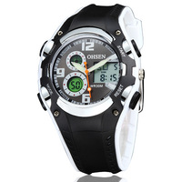 Hot sale ohsen brand digital sport watches wristwatches childrens mens diving silicone band fashion black army hand watch hours