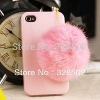 wholesale 20pcs cute Rabbit hair Rhinestone Anti Dust Plug ear cap for iphone 3.5mm jack plug cell phone plug Free shipping
