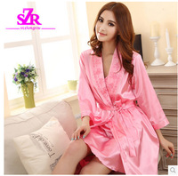 The spring and autumn period and the summer pajamas women Leisure wear robe two outfit sexy kimono embroidered pajamas